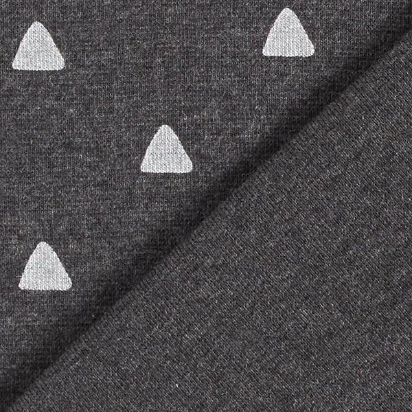 Bord-côtes coton Triangles – anthracite
