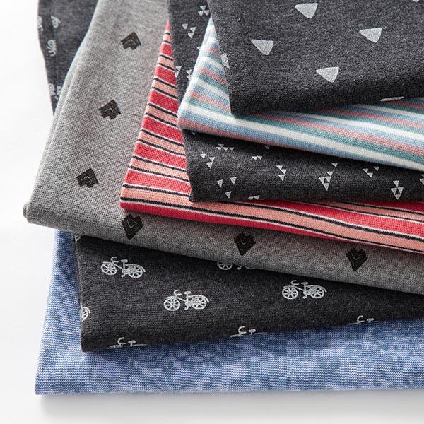Bord-côtes coton Flèches – gris