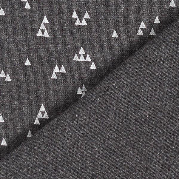 Bord-côtes coton Petits triangles – anthracite