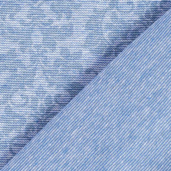 Bord-côtes coton Ornements floraux – bleu jean