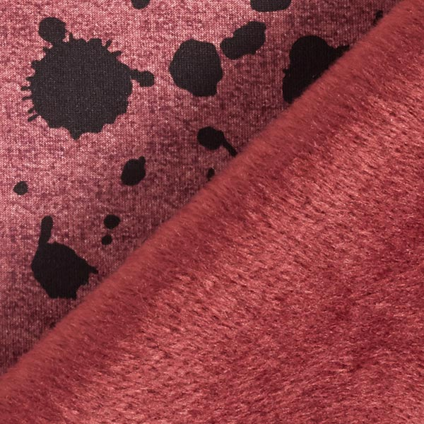 Alpenfleece Farbkleckse – rostrot