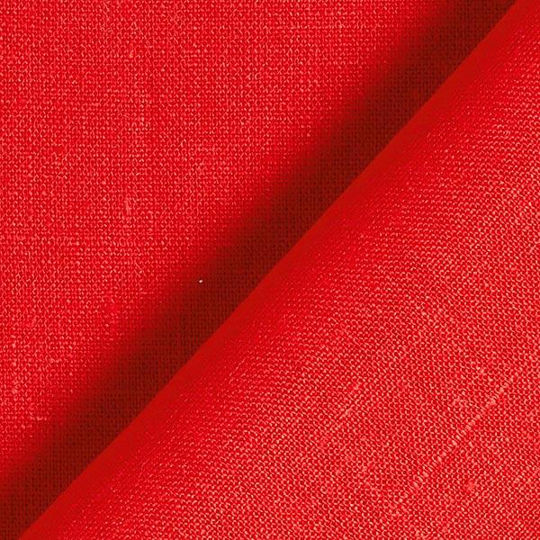 Tissu en lin – rouge vif