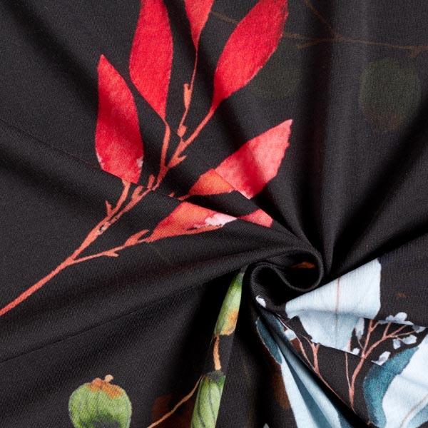 Jersey de coton bio Boutons – noir