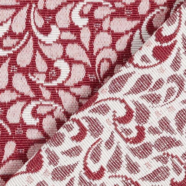 Tissu de décoration Jacquard Feuilles en filigrane – rouge