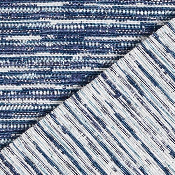 Tissu de décoration Jacquard Rayures – bleu