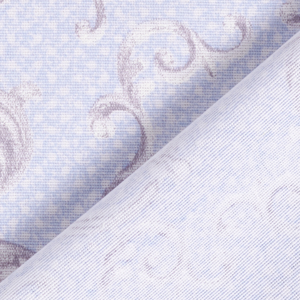 Tissu de décoration Points Ornements – bleu