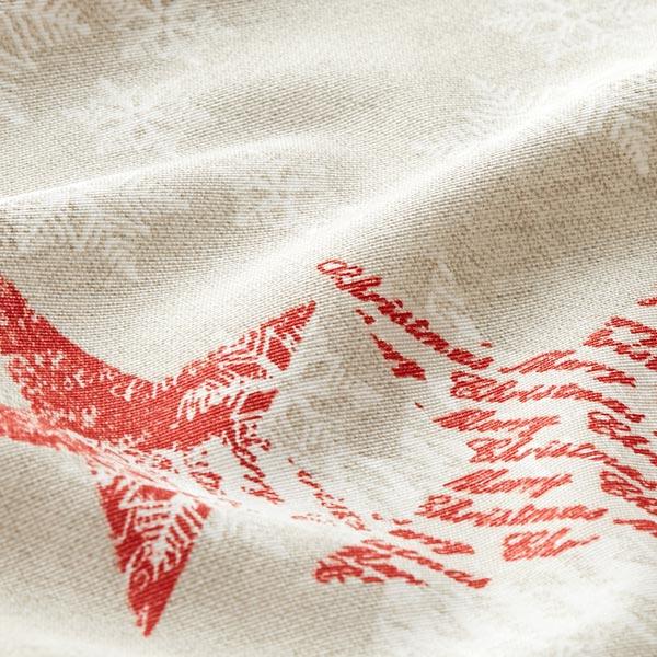 Tissu de décoration Noël Étoiles & Flocons de neige – nature/rouge