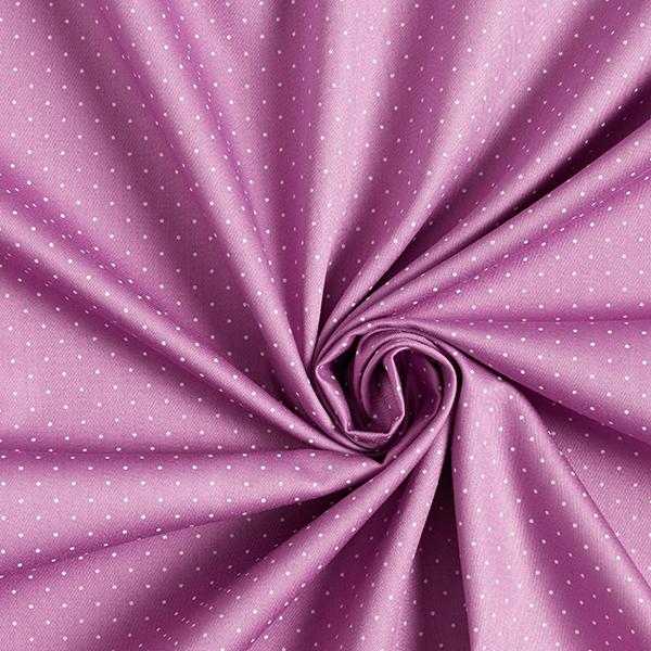 Satin de coton Petits points – violet