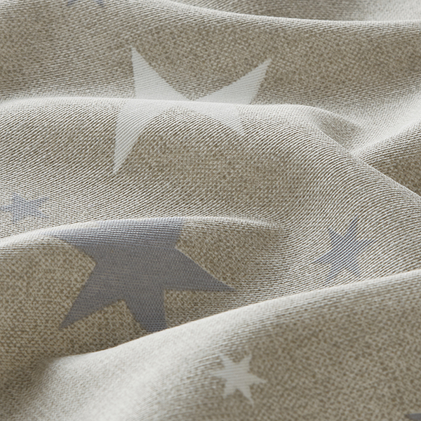 Dekostoff Canvas Sterne – grau