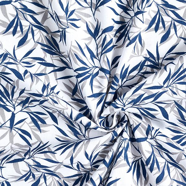 Tissu en coton Cretonne Bambou – bleu