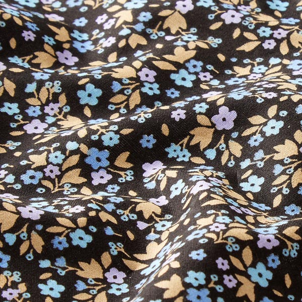 Tissu en coton Cretonne Millefleurs – noir