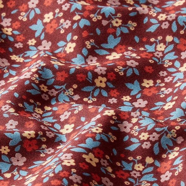 Tissu en coton Cretonne Millefleurs – rouge bordeaux