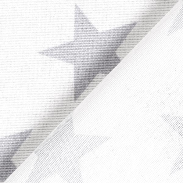 Tissu de décoration Canvas Étoiles – blanc/gris