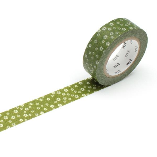 Masking Tape Mer de fleurs – olive