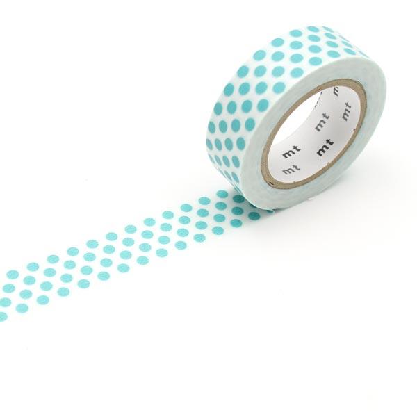 Masking Tape Points – blanc/turquoise
