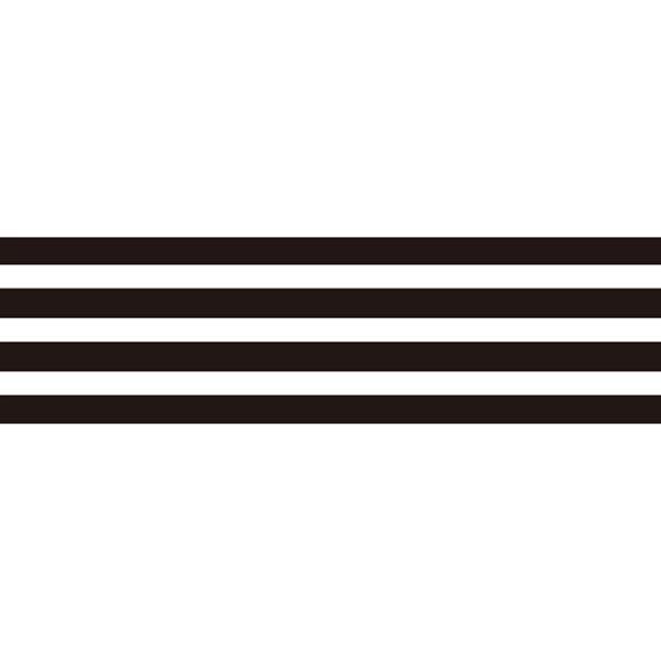 Masking Tape Rayures – noir/blanc