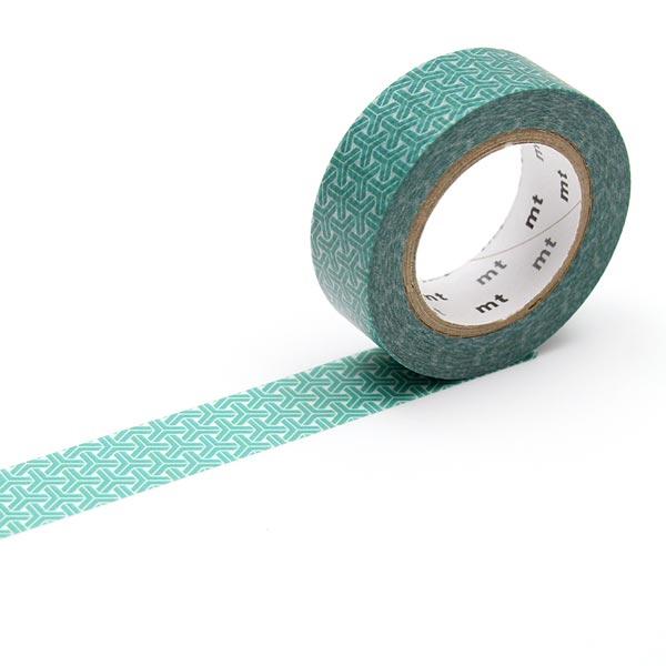 Masking Tape Rétro – blanc/vert menthe