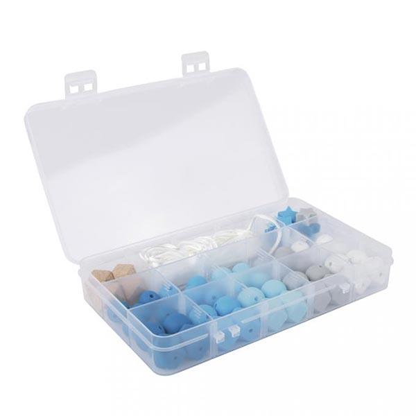 Boîte de perles en silicone | Rayher – bleu clair