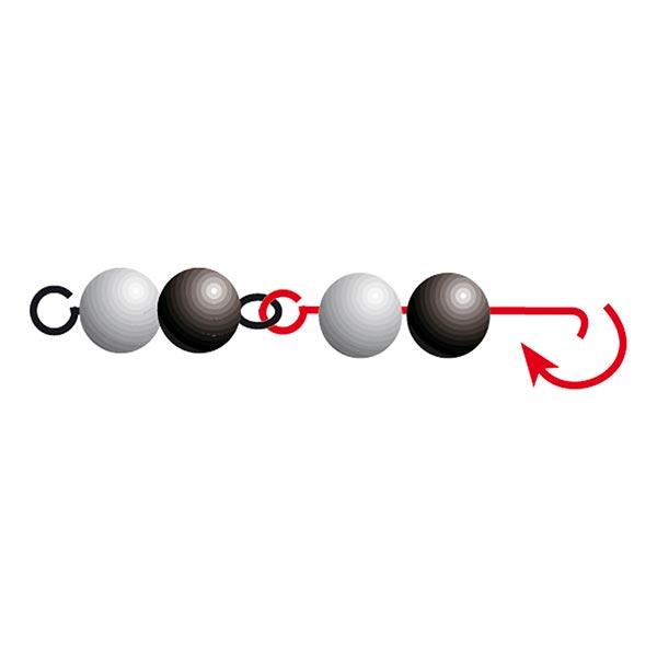 Aiguille pour enfiler des perles [ ø 0,6 mm]   Rayher – or