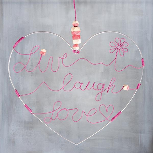 Cœur en fil métallique [ 35 cm ø ] | Rayher