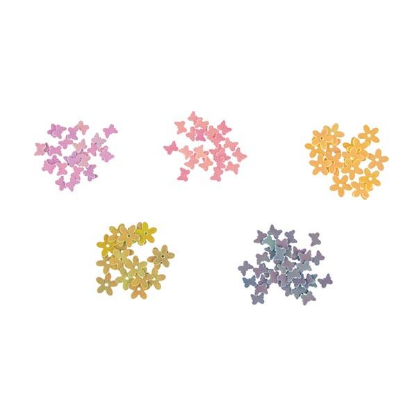 Pailletten Schmetterling Blumen Set | Rayher