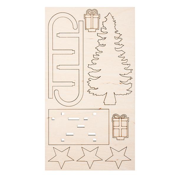 Kit de construction en bois Winterdream [11 cm]