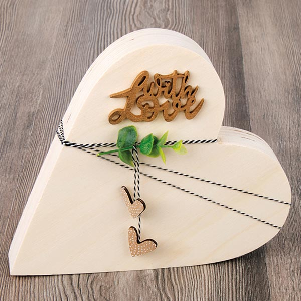 Bois Ecriture miniature with love Set [ 4 pièces ] | Rayher – nature