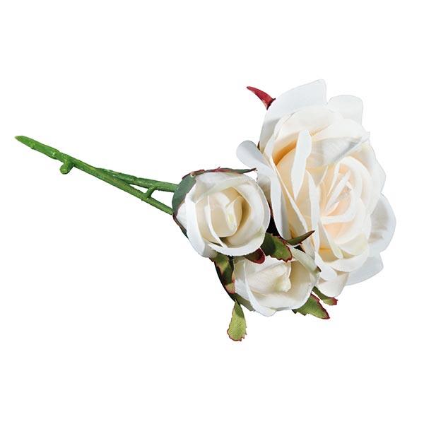 Roses Fleur artificielle   Rayher – blanc