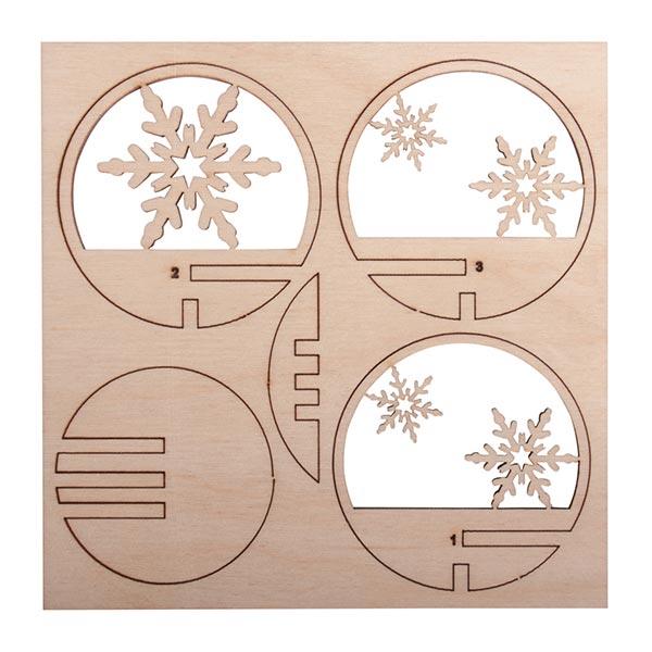 Bois Pièces à piquer Flocons de neige