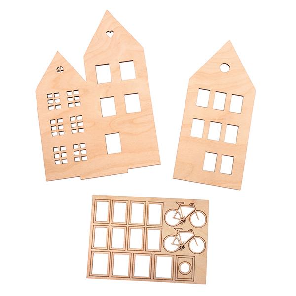 Motifs en bois Maisons