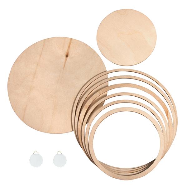 Panneaux/anneaux en bois