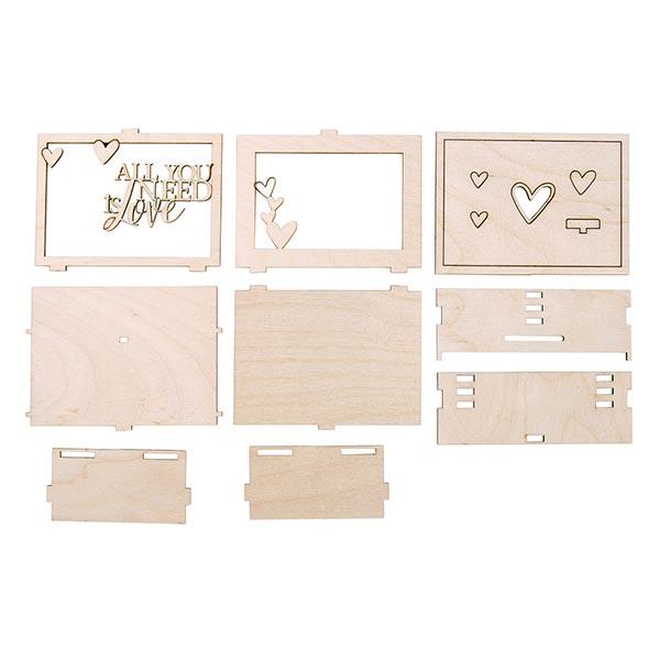 Bois Boite cadeaux Love 3D Set | Rayher – nature