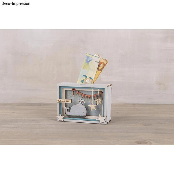 Bois Boite cadeaux 3D Bébé | Rayher – nature