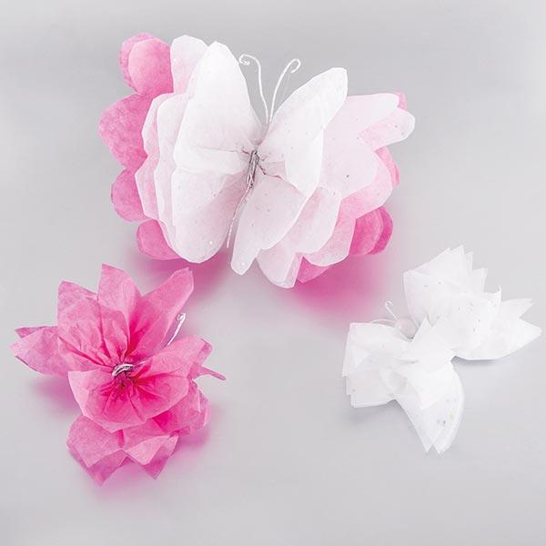 Seidenpapier Glitter Set [ 3 Stück] – weiss