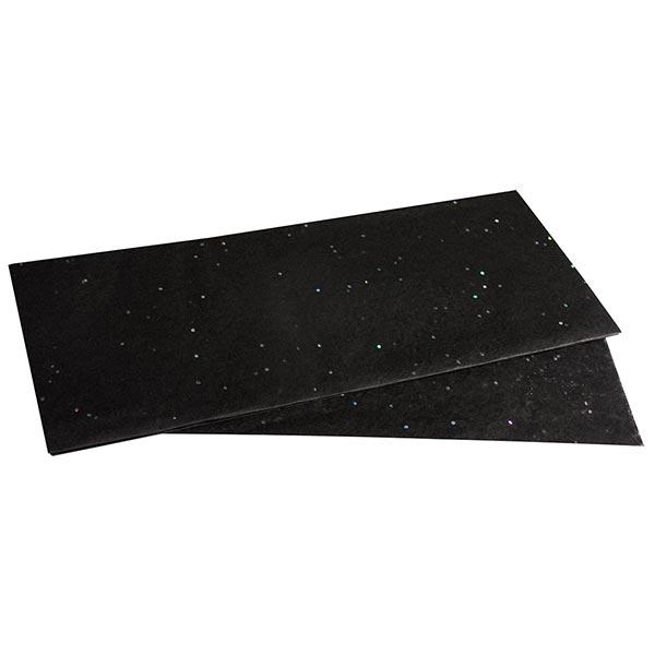 Papier de soie Paillettes Set [ 3 Pièces] – noir
