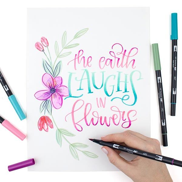 ABT Dual Brush Pen aquarelle Couleurs pastel Set [ 6 Pièces ] | Tombow