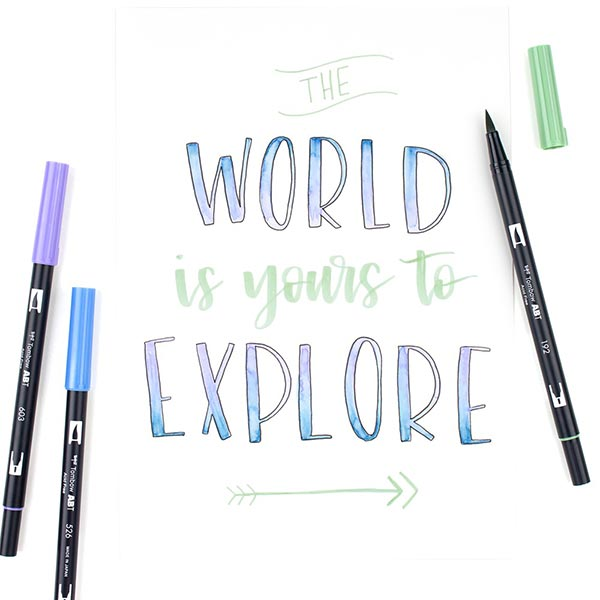 ABT Dual Brush Pen Aquarell Candy Colours Set [ 6 Stück ] | Tombow