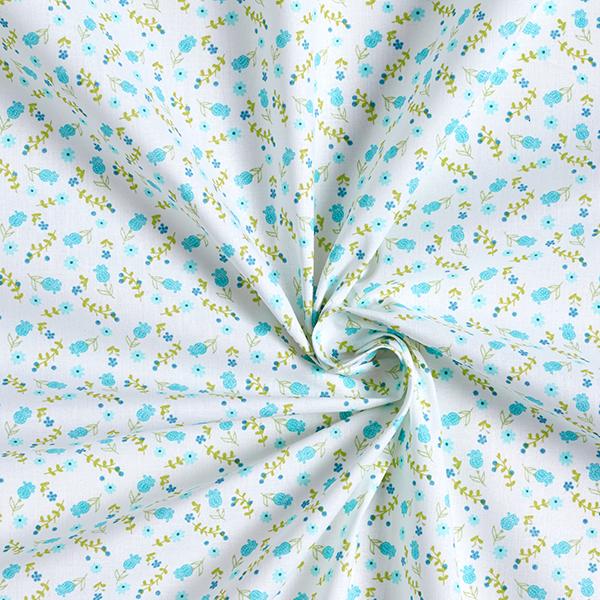 Cretonne  Petites fleurs – bleu