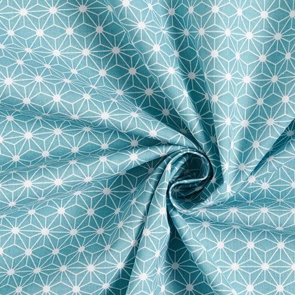 Baumwollstoff Cretonne kleiner grafischer Stern – mintgrün