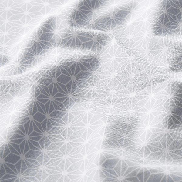 Baumwollstoff Cretonne kleiner grafischer Stern – hellgrau