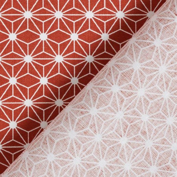 Cretonne de coton petites étoiles graphiques – rouge rouille