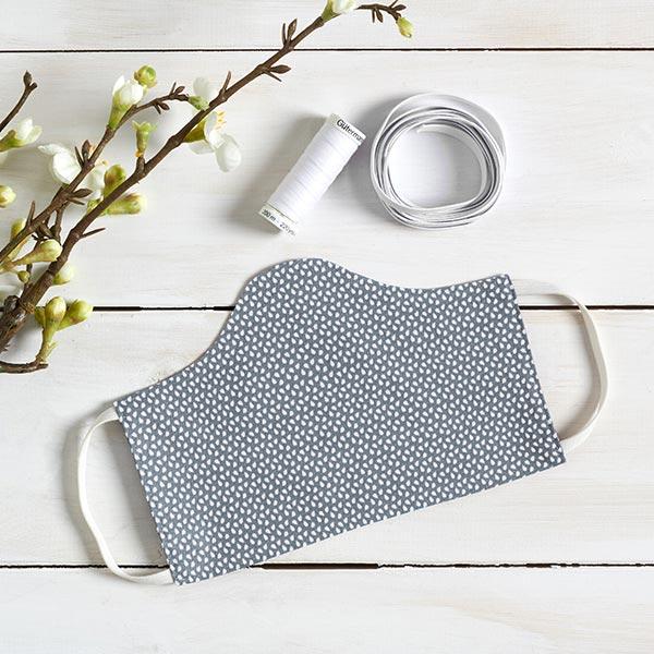 Tissu en coton Cretonne Taches – gris