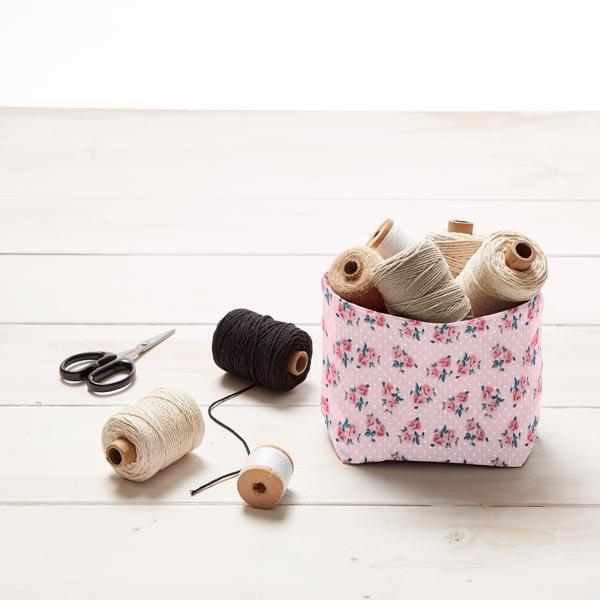 Tissu en coton cretonne Petites roses – rose