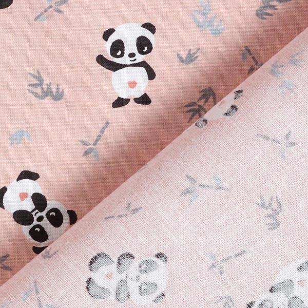 Tissu en coton Cretonne Panda câlin – rose