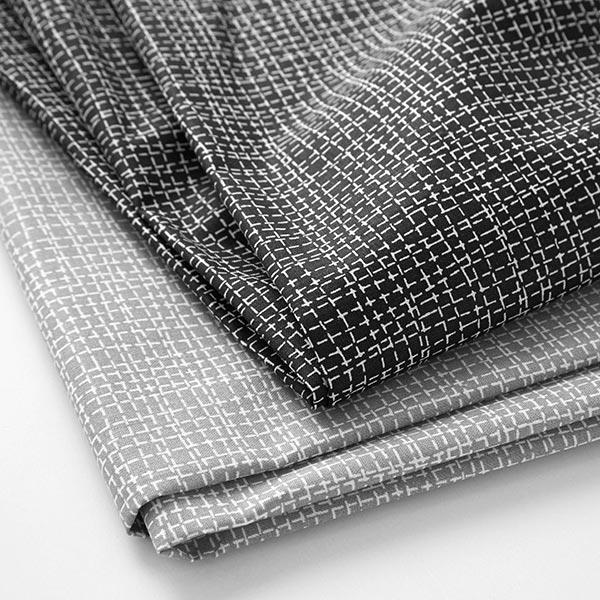 Tissu en coton Cretonne Lignes – noir