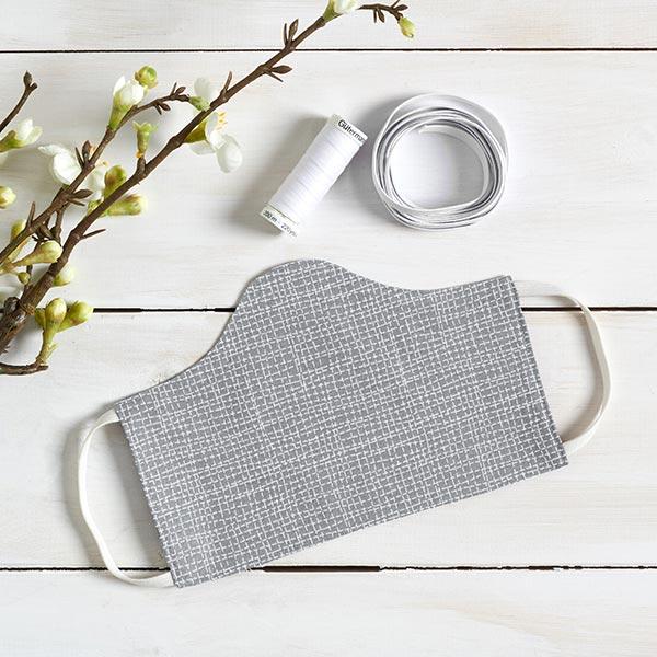 Baumwollstoff Cretonne Linien – grau