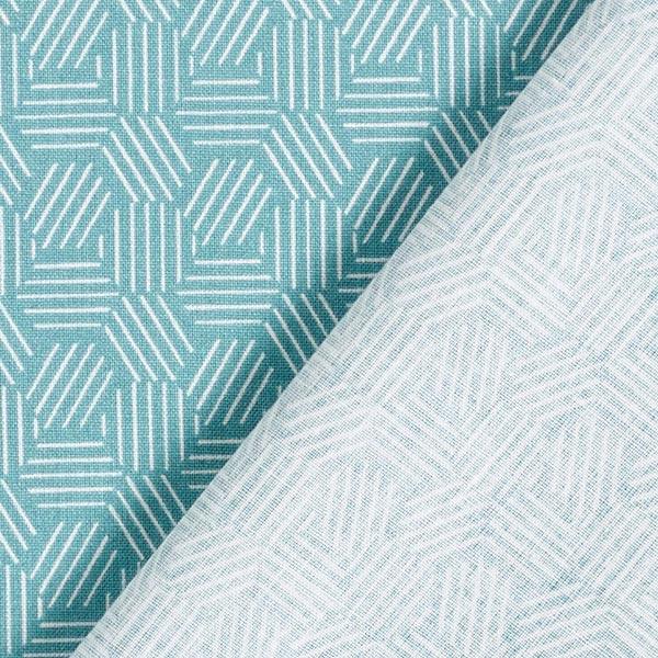 Baumwollstoff Cretonne grafische Waben – mintgrün