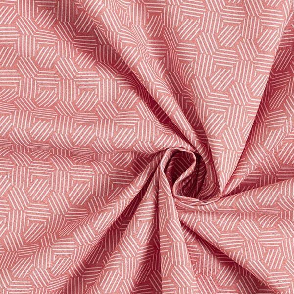Baumwollstoff Cretonne grafische Waben – terracotta