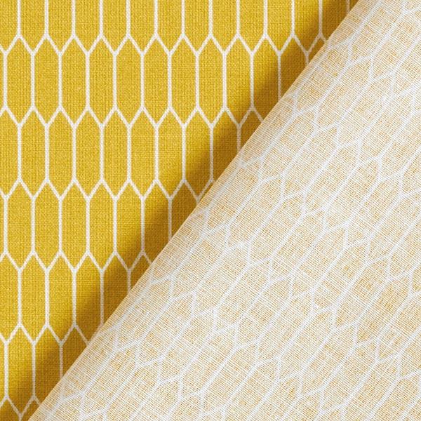 Tissu en coton Cretonne  Petites alvéoles – moutarde