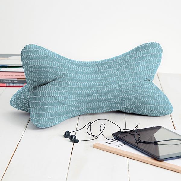 Tissu en coton Cretonne  Petites alvéoles – turquoise